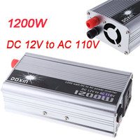 dc ac converter 12v 110v - Portable Car Power Inverter W WATT DC V to AC V Hz Charger Converter Transformer Charger Emergency Power K1308
