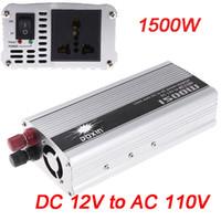 al por mayor transformador inversor 12v-Cargador de coche portátil 1500W WATT DC 12V a AC 110V 50 Hz Car Power inversor transformador fuente de alimentación K1309