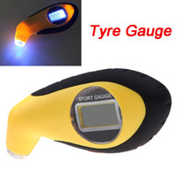 Wholesale 100PSI KPA BAR Digital LCD Air Pressure Tyre Auto Car Tire Gauge High Accuracy Tester Tool with LED for Car Motor Bike K1302