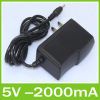 Wholesale 5V A Charger Converter Power Adapter US EU plug VAC0 A Hz BA for Tablet PC Q88 Free DHL Shipping