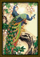 Wholesale JIUJIU DIY digital oil painting on canvas the picture unique gift home decoration X90cm Peacock paint by number