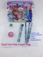 Wholesale New listing Kids learning items Frozen stationery set for Students Office amp School Supplies Frozen Pencil Cases Frozen Bags Ruler Pencils