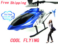 Wholesale RC Helicopter Remote control Heli with metal body Free shippng