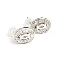 Wholesale 2014 new S925 Silver earring jewelry earring latest design diamond earring made in china ARES