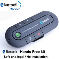 Wholesale New Wireless Stereo Bluetooth Handsfree Speakerphone Car Kit With Car Charger Hands free Bluetooth car Kit