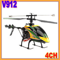 other other other Wholesale-Register shipping!! New WLtoys V912 2.4G 4ch rc helicopter v911 upgrade single propeller big 52cm remote control single screw