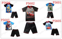 Boy Two-piece 2T-3T Children's swimsuit baby Swimwear Swim trunks Boys Tshirt+Short Trunks sunscreen clothing Rash Guard ,Spider-Man, Cars, Despicable Me kids