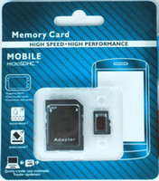 Wholesale X200 DHL high speed GB GB Class Micro SD TF Memory Card with Adapter Retail Package Flash SDHC C10 Cards Transflash