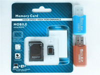 Wholesale high speed GB GB Class Micro SD TF Memory Card with USB Adapter Retail Package Flash SDHC C10 Cards Transflash