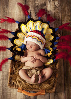 photos clothes - American Indian Clothes Baby Girls Boy Newborn T Knit Crochet Photo Prop Outfit