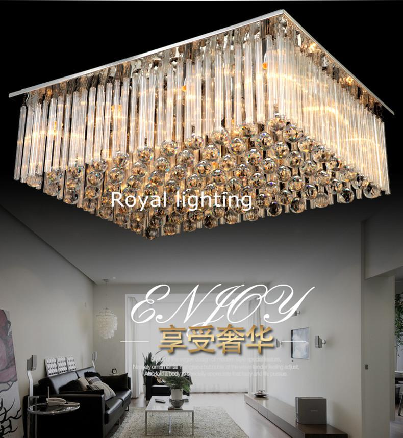 Large Crystal Ceiling Lamps Modern Luxury Luminaria Hanging Light Art Deco Livingroom LUZ Hotel Villa Bedroom Suspension Lights Lamp