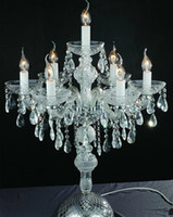table lamp - Kitche Bar big crystal candle holder table lamp dining room candle table light wedding candelabra desk lamp large candlestick table light
