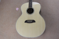 acoustic body styles - belief14 Factory Seller New Style Solid spruce Body Abalone inlays Natural Wood Acoustic Guitar