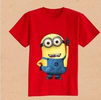 Unisex Summer Standard New 2014 Boys Girls T-Shirt Cartoon Figure Despicable Me Minions Clothes Minion Costume Children's Clothing T Shirts jb-qa102
