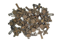 Wholesale FREE Mixed Cross Wood Beads Pendants Fit Necklace Bracelet Charms Jewelry B62