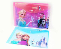Wholesale 2014 new frozen children folder for bags school supplies bags message folder