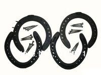 Wholesale new Casting Iron NO NO Horseshoes set horse tack horse shoes with nails