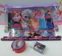 Wholesale 2014 factory price Frozen stationery set for Students Office School Supplies Frozen Pencil Cases Frozen Bags Frozen Ruler Frozen Pencils