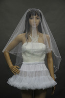 One-Layer Blusher/ Short Veils Cut Edge Yu yarn single- car line hooded pearl bridal veil wedding veil essential