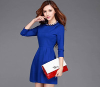 Wholesale 2014 new European star models in Europe and America stand solid backing big fashion Slim Dress