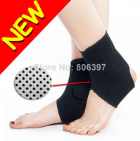 Wholesale New Tourmaline Far Infrared Ray Heat Health Care Pain Relief Ankle Brace Support Pair