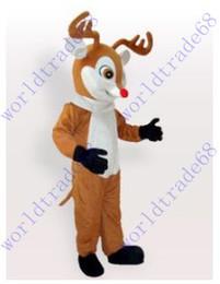 nuevos trajes de mascota de encargo reno de peluche venta animales carnaval traje vestido de halloween
