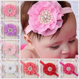 Wholesale Girls flower headband Baby cute hair band Toddler Baby girls multi color headbands