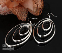 Silver beautiful plastic plates - hot Silver Hoop Earrings beautiful gifts brand new
