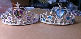 Wholesale Frozen elsa Queen s crown frozen elsa cosplay Coronation crown frozen crown Headdress tiara silver red color