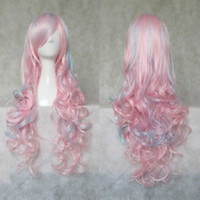 Cheap party wig Best pink doll