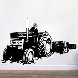 Wholesale Wall stickers Home Garden Wall Decor Vinyl Removable Art Mural Home decor Tractor T