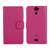 Wholesale 2014 New Flip Stand Wallet Colors Cover For Sony Leather Case For Xperia SP M35h Phone Cases