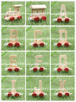 Wholesale 10pcs baby educational wooden toy letters cognation train Wood Letter baby Toys Birthday Xmas Wedding Decorations