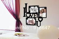 "Graphic vinyl PVC Animal 2014 New Products PVC 3D Photo Frame Wall Sticker 3 Photos Set Fashion Decorations Home Decor House 15.75""x15.75"" 40x40cm"