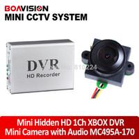 Wholesale mini HD Channel Super Smart Mini Hidden DVR degree TVL night vision video audio color Mini security Camera MC495A