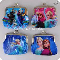 Wholesale NEW HOT x FROZEN Coin Purses PVC Mini Wallets Mix Elsa Anna Cartoon Character Girls Children Kid Party Favor Gift Fashion
