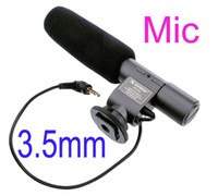 Wholesale Professional SG Stereo Electret Condenser Microphone for mm Mic Digital Camera DSLR DV Handycam Camcorder