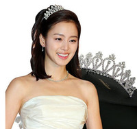 Wholesale Hot Sales Rhinestone Imperial crown Hair plug Bridal Crown Children shiny crown Girls headdress