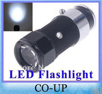 Wholesale Mini rechargable led torch Car Cigarette Lighter led Rechargeable Flashlight torch retail and