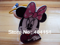 Quilt Accessories iron on patches for kids - 30pcs embroidery pink bow minnie mouse iron on patches for kids garment sewing accessories