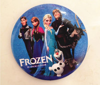 Metal Brooch  Frozen Cartoon Pin Badge 4.5cm Anna Elsa Princess Olaf Costume Cosplay Boys Girls Toy Fashion Badges frozen accessories