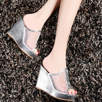 Wholesale hotsale Sexy Vogue high heel Dress Shoe high thick bottom Shoes Stiletto Womens Hi Heel Elegant Slippers Boots Lower Price ladies Shoes