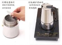 Wholesale COFFEE MAKER STAINLESS STEEL ITALIAN MOKA POT CAFFETTIERA CUPS ML