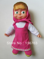Wholesale Russian Musical Masha Baby Dolls for Girls Child Russia masha and bear plush toys for kids Gifts