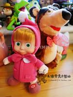 al por mayor repetir juguete oso-2016 NUEVO rusa Masha y el oso de peluche de juguete muñeca que camina Música Masha Masha Repetir regalos muñeca de juguete Masha envío libre de cumpleaños de los niños