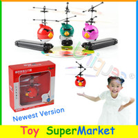 other other other Wholesale-Free Ship New Flying Toys Bird Saucer UFO RC Remote Infrared Induction Hand Control Toys Helicopter 2014 New Electronic Toys