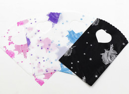 Wholesale MIC Pink Blue Black Purple Rose Plastic Jewelry Gift Bag Bags Jewelry Pouches X9cm
