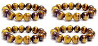 Wholesale Chinese Jewelry Natural Round Tiger eye mm mm Beads Bracelet The cat s eye jade