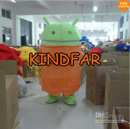 Wholesale 2014 hot sale New Style Android Robot Mascot Costume Fancy Dress Adult Size Cartoon Party Outfits Suit