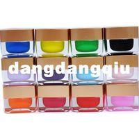 Pinks Nail Polish Gradient Wholesale-free shipping 2sets lot 12pcs set 12 glue french nail art gel glue phototherapy uv glue